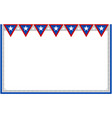 abstract usa flag decorative banner frame vector image vector image