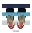 Advertising men shoes different colors Business vector image vector image