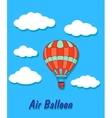 Air balloon in sky and clouds vector image