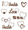 all about love and chocolate vector image vector image