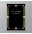 art novo page template luxury elegante texture vector image vector image