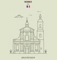 basilica saint sauveur in rennes vector image vector image