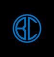 bc monogram letter icon design on black