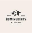 bird house hummingbird hipster vintage logo icon vector image