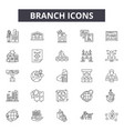 branch line icons for web and mobile design vector image vector image