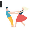 bright people portraits - young couple vector image