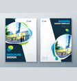 brochure template layout design corporate vector image