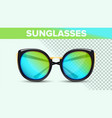 cat eye sunglasses trendy 3d shades vector image vector image