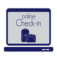 check in travel store2 resize vector image vector image