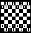 chess board layout vector image vector image