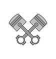 crossed engine pistons icon vector image vector image