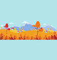 cute houses in yellow trees autumn seamless vector image vector image