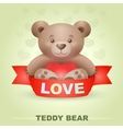 Cute Teddy bear with heart vector image vector image