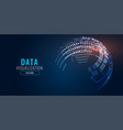 digital technology background banner design vector image vector image