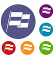 egyptian flag icons set vector image vector image