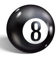 eight ball billiards realistic 8 ball isolated vector image vector image