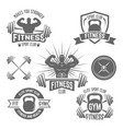 fitness sport club emblems isolated vector image vector image