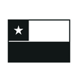 Flag of Chile monochrome on white background vector image