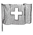 flag of switzerland 1881 vintage vector image vector image