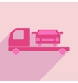 Flat with shadow icon and mobile application tow vector image vector image