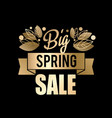 golden spring design big vector image vector image
