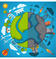 green eco planet and environment pollution vector image