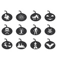 halloween lantern icons set vector image vector image
