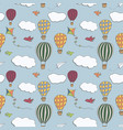 hot air baloons seamless pattern vector image