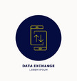 icon data exchanges on smartphone vector image