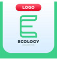 letter e ecology logo icon design template vector image