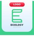 letter e ecology logo icon design template vector image vector image