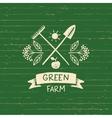 logo green farm Sketch for logo vector image vector image
