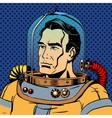 Manly man astronaut in a spacesuit vector image vector image