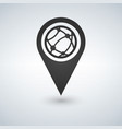 map pointer globe internet flat icon flat design vector image vector image