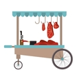 meat food cart icon vector image vector image
