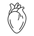 medical human heart icon outline style vector image vector image