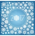 New year 2017 with white snowflakes vector image vector image