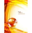 Orange background with globe vector image
