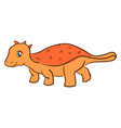 orange dinosaur on white background vector image vector image