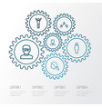 people outline icons set collection of social vector image vector image