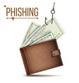 phishing money concept internet security vector image vector image