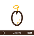 Plum outline icon Fruit