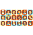 profession people icons set professional human vector image vector image