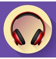 Realistic headphones icon Flat design vector image