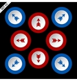 red and blue arrows in eight directions vector image