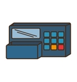 register machine store isolated icon vector image