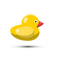 rubber duck isolated on white background vector image vector image