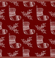 seamless pattern of christmas decorative symbol vector image vector image