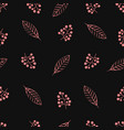 seamless pattern with twigs berries vector image