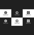 set creative monogram letter gd logo template vector image vector image